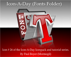 Icon-A-Day #26 (Fonts Folder)