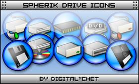 Spherik Icons - Drives