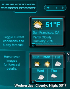 Sirus Sidebar Weather