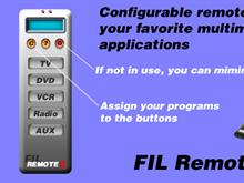 FIL Remote for TV / DVD / VCR / RADIO / AUX