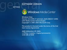 Windows Vista Media Center System Information