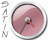 Red Satin Clock
