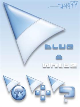 77 blue & white