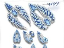 77 blue wings