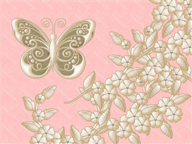 Beige Butterfly V. 2