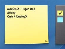 Mac OS X - Sticky Widget