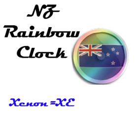 New Zealand Rainbow Clock