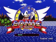 Original Sonic The Hedgehog Game Start Screen