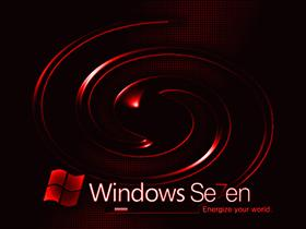 Windows 7 Dark Red Swirl