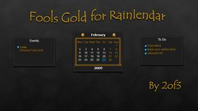 Fools Gold for Rainlendar