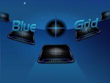 Blue Cross (+) Grid
