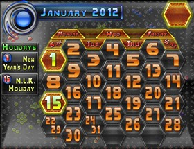 2012 HexaKomb Calendar Template