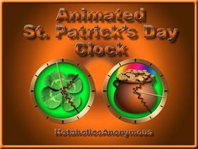 Animated St. Patrick&#39;s Day Clock