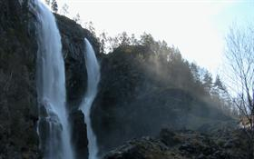 Waterfall and Fog