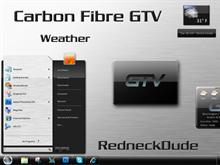 Carbon Fibre GTV Weather Widget