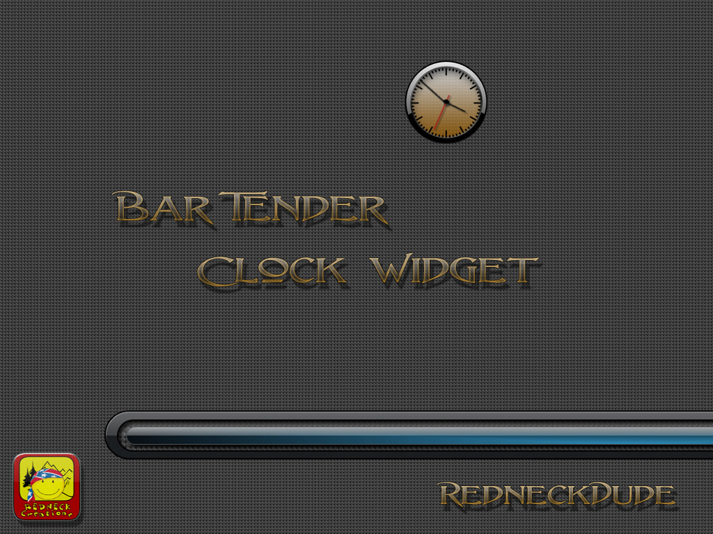 Bar Tender Clock Widget