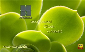 ecoLogical Clock Widget