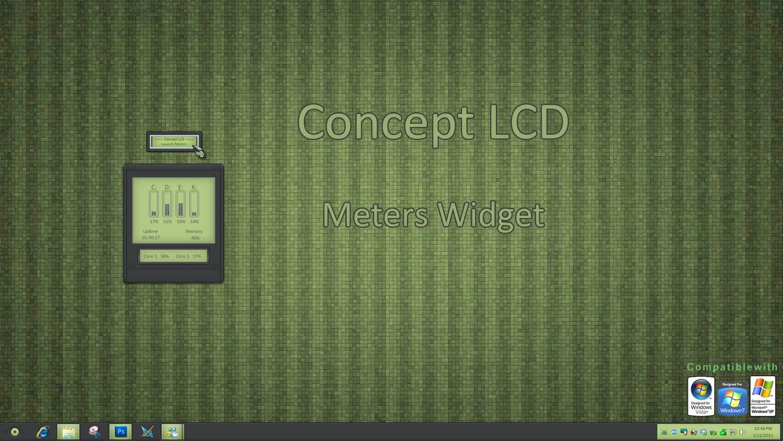 Concept LCD Meters Widget