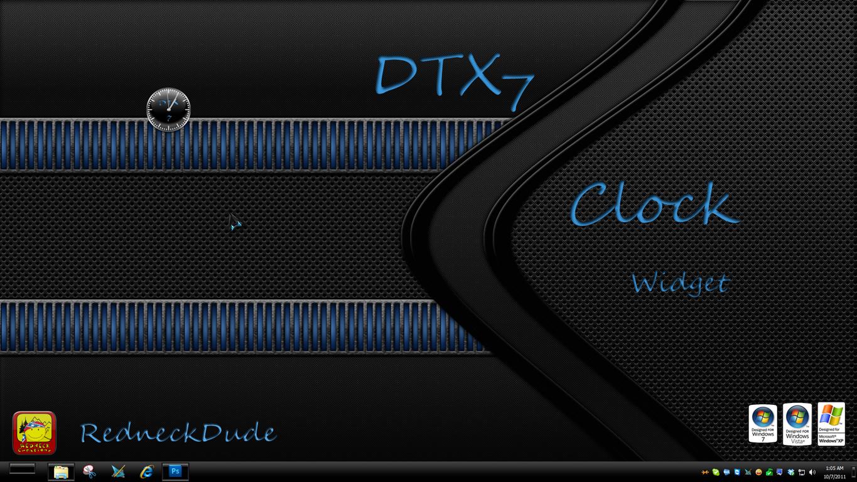 DTX 7 Clock Widget