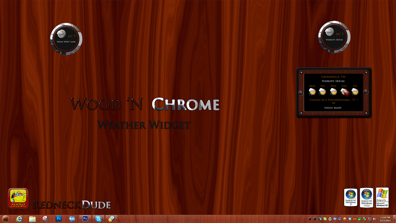 Wood 'N Chrome Weather Widget