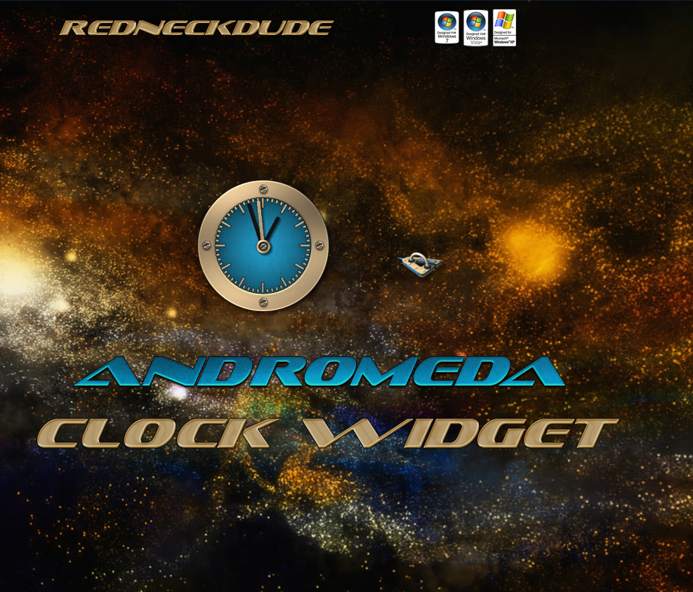 Andromeda Clock Widget