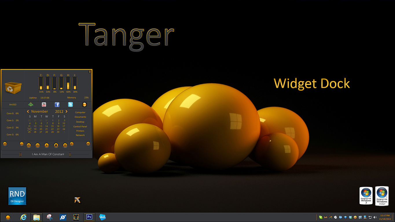 Tanger Dock Widget