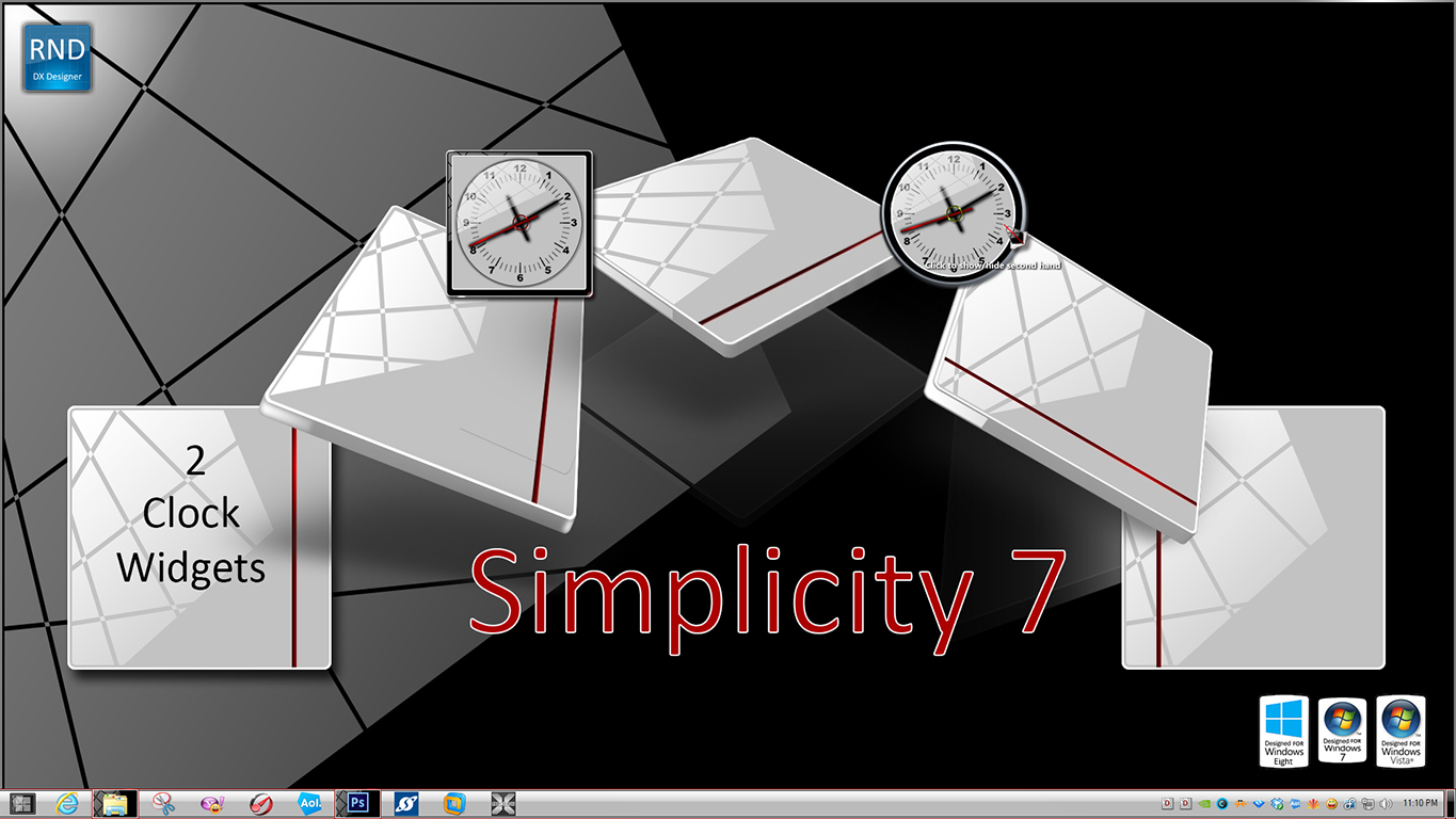 Simplicity Clock Widget