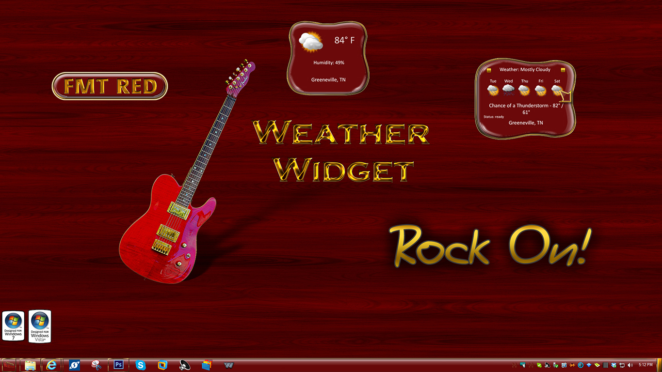 FMT Red Weather Widget