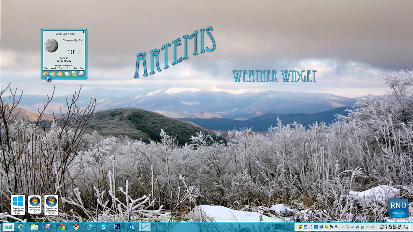 Artemis Weather Widget