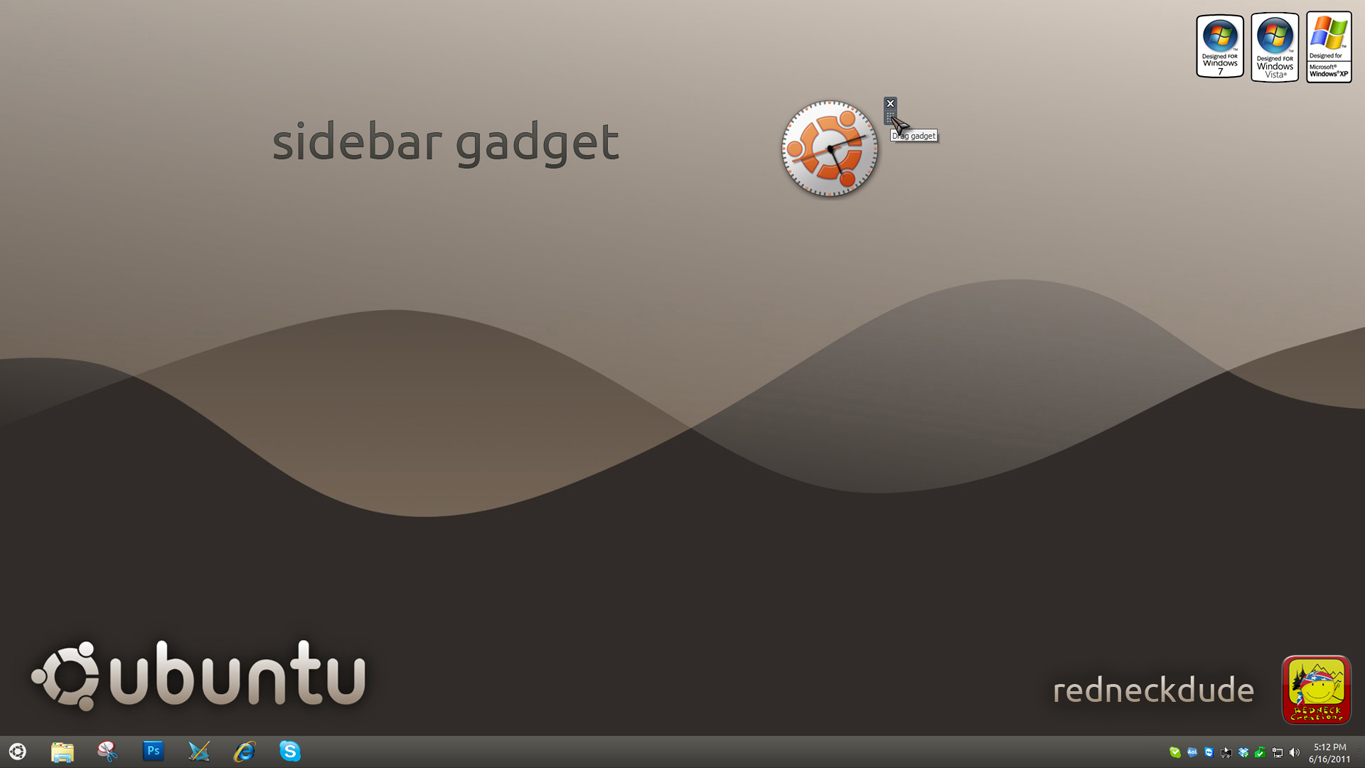 ubuntu 11 clock sidebar gadget