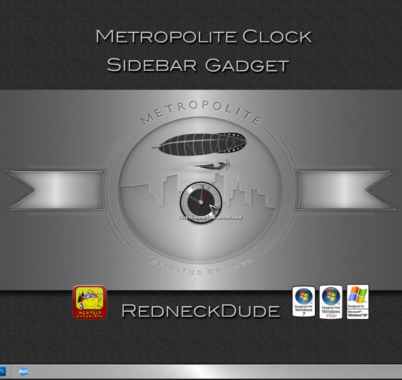 Metropolite Clock Sidebar Gadget