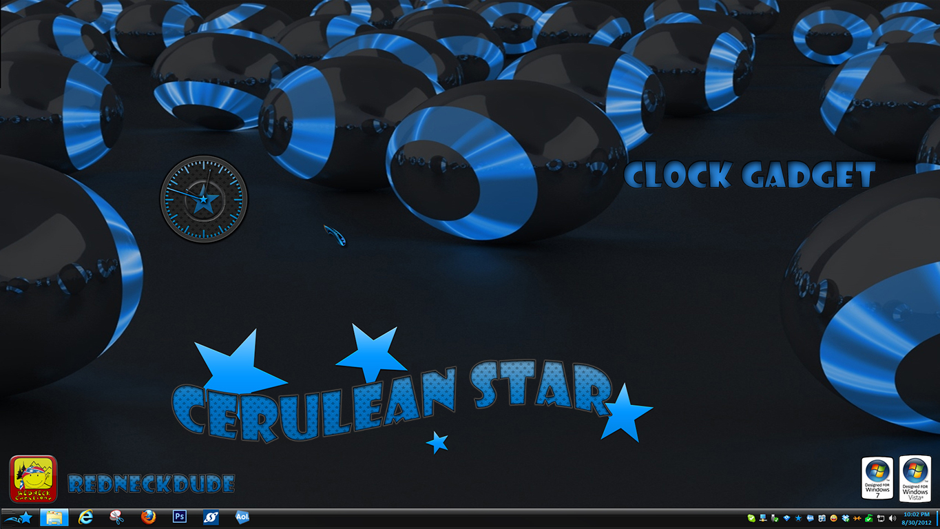 Cerulean Star Clock Gadget