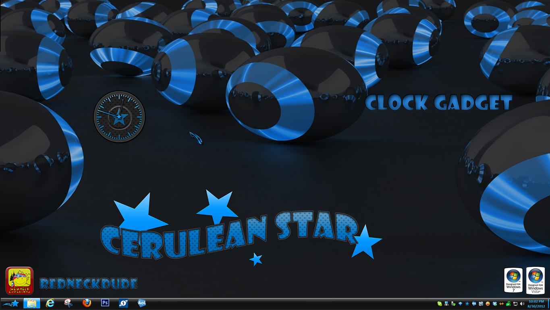 Cerulean Star Clock Gadget