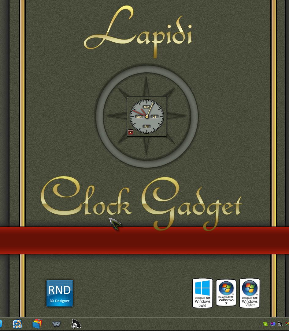 Lapidi Clock Gadget