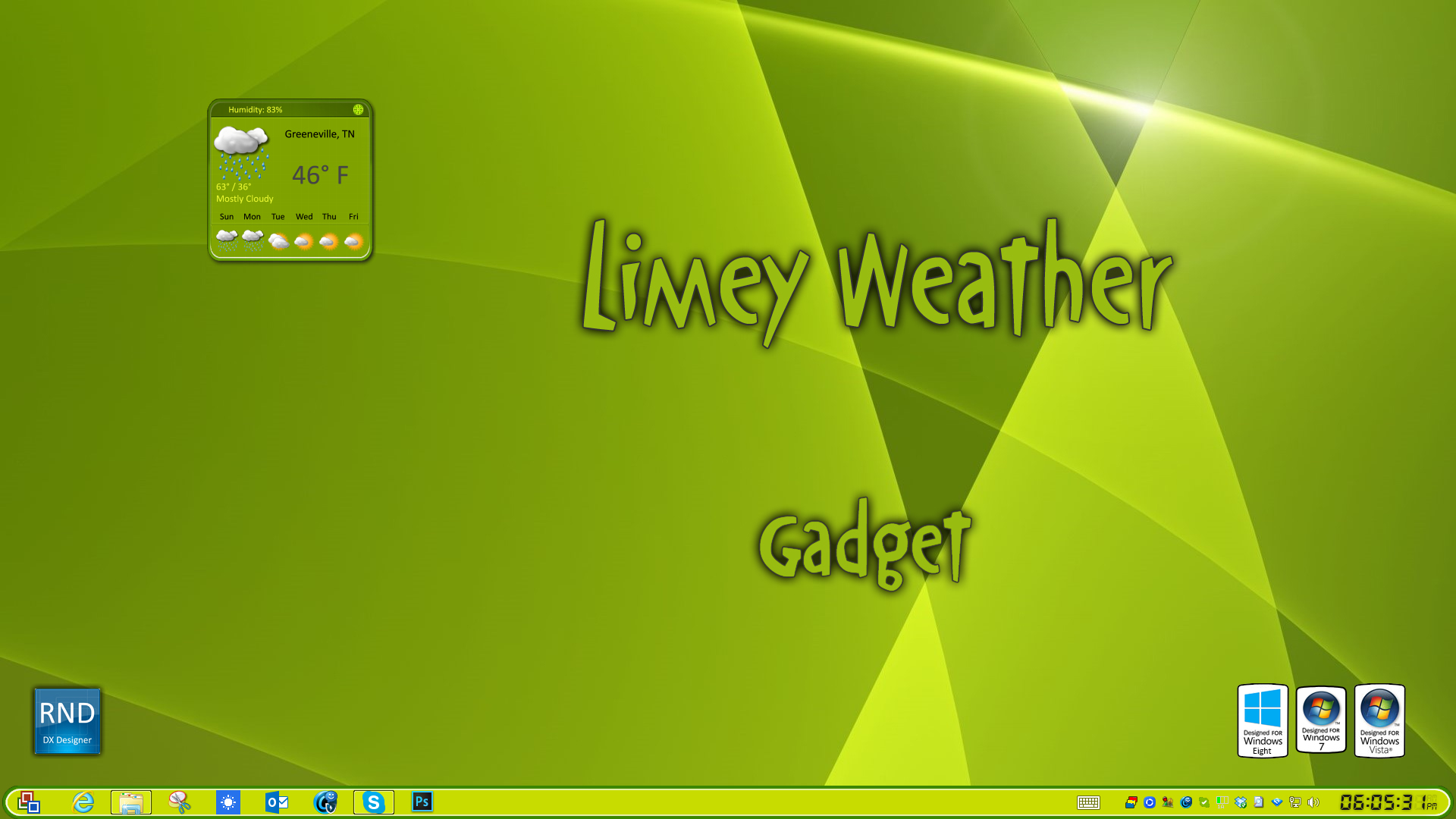 Limey Weather Gadget