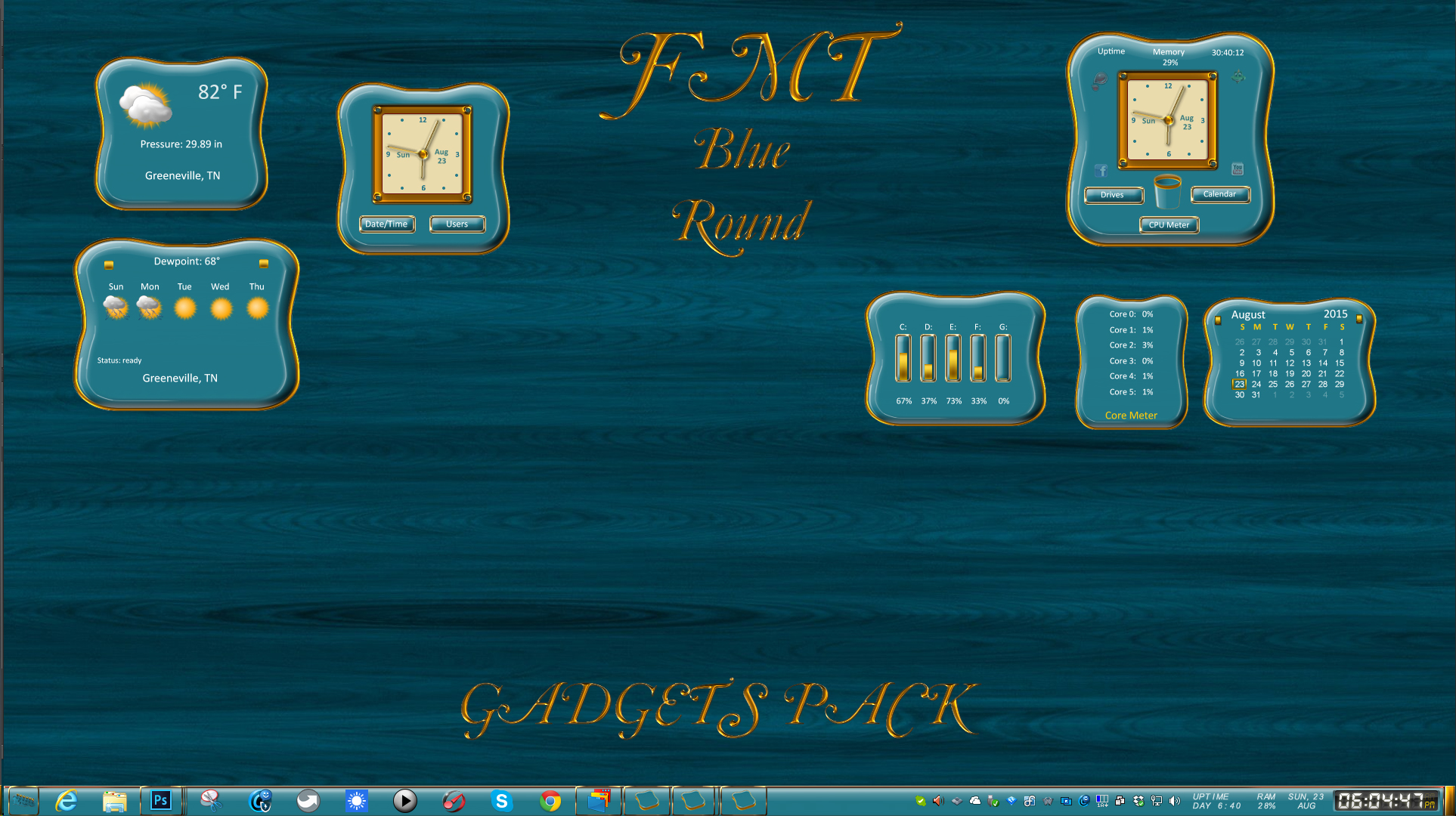 FMT Blue Round Gadget Pack