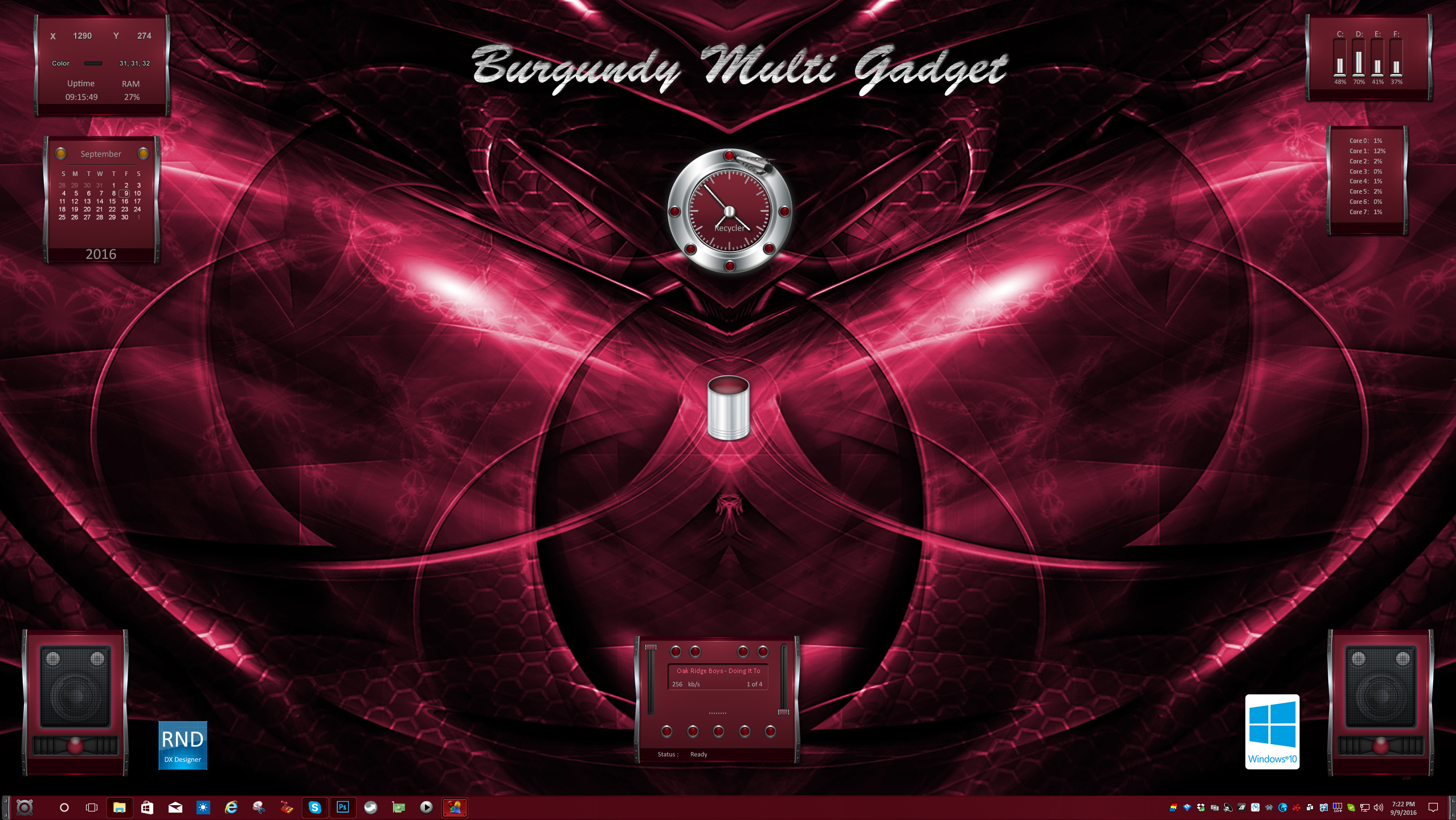 Burgundy Multi Gadget