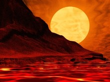 Red Hot Sunset Screensaver