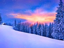 Sunset Snow