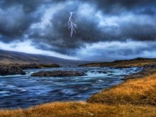 Stormy River HDR