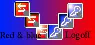 Bleu & red logoff