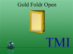 Gold Folder Open