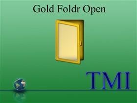 Gold Folder Open