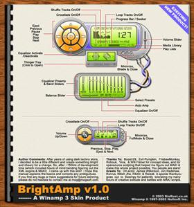BrightAmp for Winamp 3