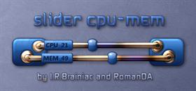 Slider cpu-mem widget