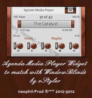 Agenda-Media-Player-Widget