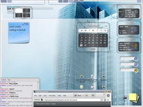 fragile glass desktop