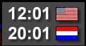 US/NL Clock