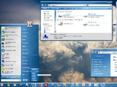 Blue OS [win7] subscriber skin