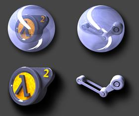 Steam and Half-Life 2 icons